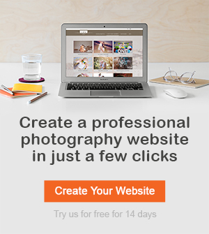 Create a professional photography website in just a few clicks